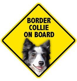 Pet On Board Sign Border Collie