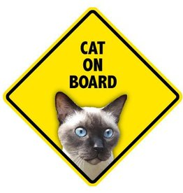 Pet On Board Sign Cat-Siamese