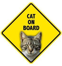 Pet On Board Sign Cat-Tabby