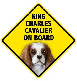 Pet On Board Sign Cavalier King Charles Spani
