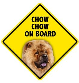 Pet On Board Sign Chow Chow
