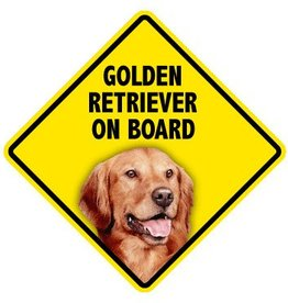 Pet On Board Sign Golden Retreiver
