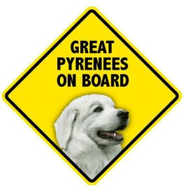 Pet On Board Sign Great Pyrenees
