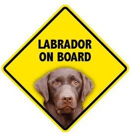 Pet On Board Sign Labrodor Retriever  Chocola