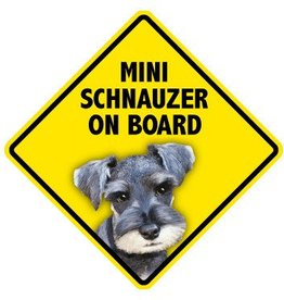 Pet On Board Sign Miniature Schnauzer