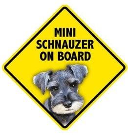 Pet On Board Sign Miniature Schnauzer