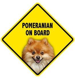 Pet On Board Sign Pomeranian