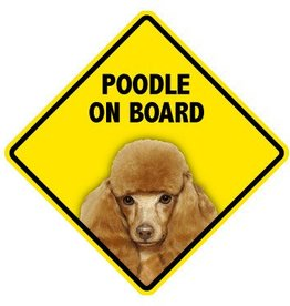 Pet On Board Sign Poodle Toy