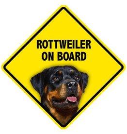 Pet On Board Sign Rottweiler