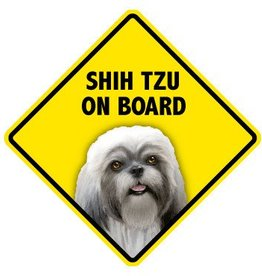 Pet On Board Sign Shih Tzu