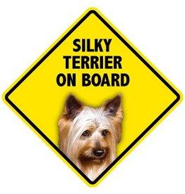 Pet On Board Sign Silky Terrier
