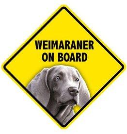 Pet On Board Sign Weimaraner
