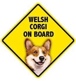 Pet On Board Sign Welsh Corgi Cardigan