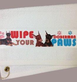 Doberman Pincher-Black Paw/Slobber Towel