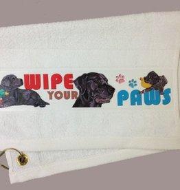 Labrodor Retriever -Black Paw/Slobber Towel