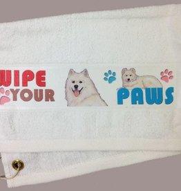 Samoyed Paw/Slobber Towel