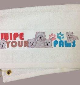 West Highland White Terrier Paw/Slobber Towel