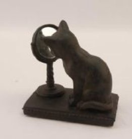 Resin Cat W/Mirror