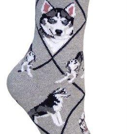 Siberian Husky Socks