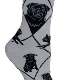 Pug (Black) Socks