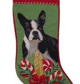 Christmas Stocking Boston Terrier