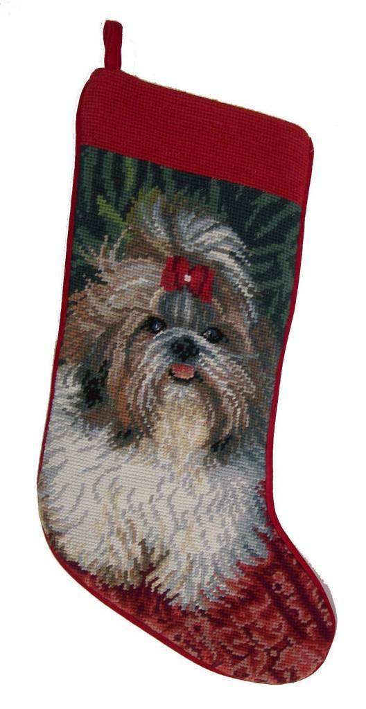 Christmas Stocking Shih Tzu - Captivating Canines