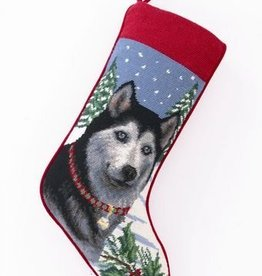 Christmas Stocking Siberian Husky