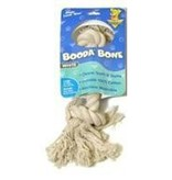 "2 KNOT ROPE DOG BONE WHITE LG 24"".."