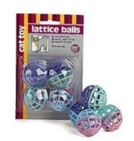 Lattice Balls With Bells 4/pk