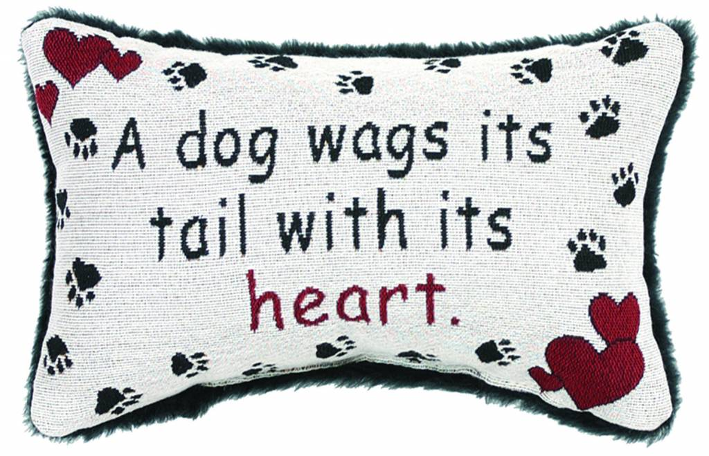 A Dog Wags His Tail Pillow