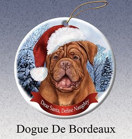 Pet Gifts Round Ornament Dogue de Bordeaux
