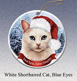 Pet Gifts Round Ornament Cat-WHITE