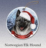 Pet Gifts Round Ornament Norwegian Elkhound