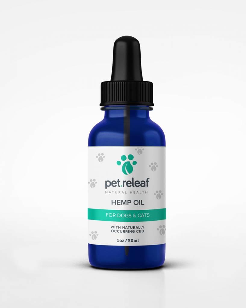 Pet Releaf 1oz Hemp Oil 100 mg CBD for Dogs & Cats