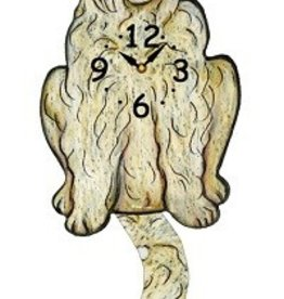 Wagging Tail Clock, GoldenDoodle