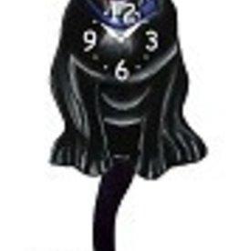 Wagging Tail Clock, PitBull, Black