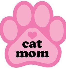 Paw Magnet - Cat Mom - Pink