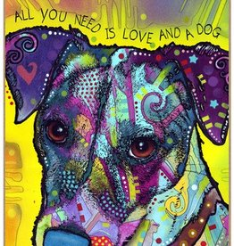 Russo Sign-Jack Russell - All you need is love and a dog