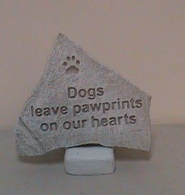 Dogs Leave Pawprints Memorial Stone (Triangle)