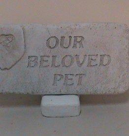 Our Beloved Pet Memorial Stone