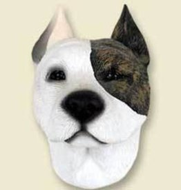 Magnetic Head-Pit Bull Terrier - Brown & White