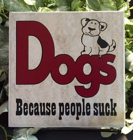 Ceramic Tile - Dogs because people suck