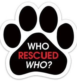 Paw Magnet  - Who Rescued Who