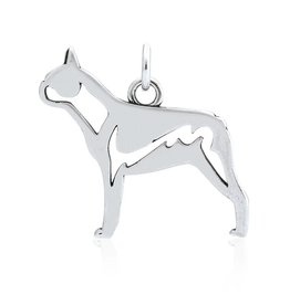 Sterling Silver Boston Terrier Pendant, Body