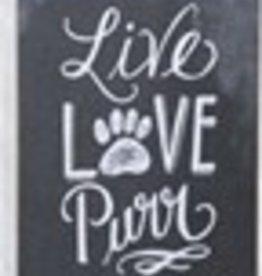 Live Love Purr Box Sign