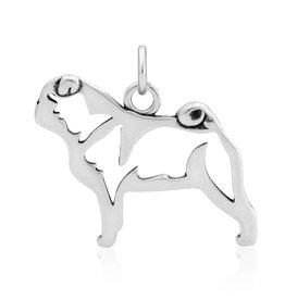 Sterling Silver Pug Pendant, Body