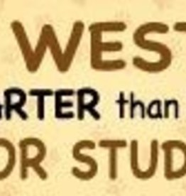 Mag Bumper Sticker - Westie/Honor Student