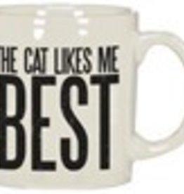 Mug - Cat Likes Me Best