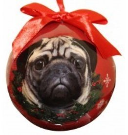 Ball Ornament - Pug (Tan)