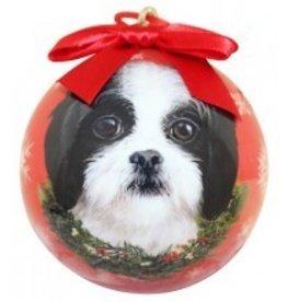 Ball Ornament - Shih-Tzu (Black & White)
